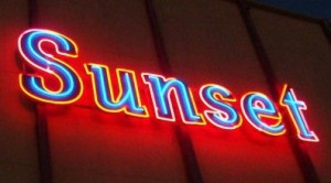 Neon Sunset sign