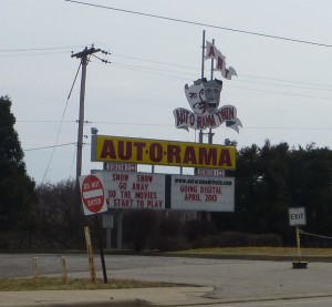 Aut-O-Rama drive-in marquee