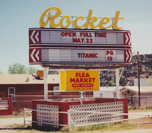 Rocket Drive-In marquee